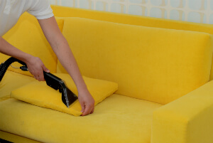 two-seat sofa cleaning